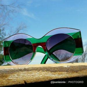 Accessories - Trendy Tricolor Round Sunglasses